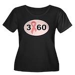 3 Days 60 Miles 1 Cause Women's Plus Size Scoop Ne