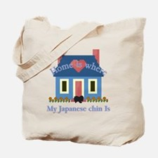 Japanese Chin Home Is Tote Bag