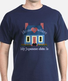 Japanese Chin Home Is T-Shirt