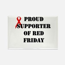 Proud Supporter of Red Friday Rectangle Magnet