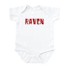Raven Faded (Red) Infant Bodysuit