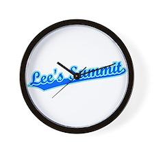 Retro Lee's Summit (Blue) Wall Clock