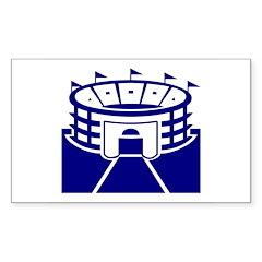 Blue Stadium Sticker (Rectangle 10 pk)
