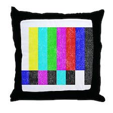 Off Air TV Bars Throw Pillow