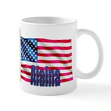 Alaina Personalized USA Flag Mug