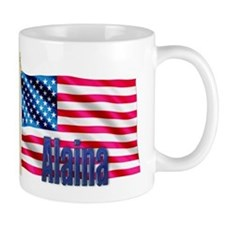 Alaina Personalized USA Flag Mug