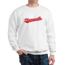 Retro Plymouth (Red) Sweatshirt