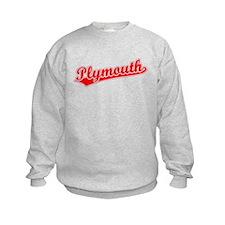 Retro Plymouth (Red) Sweatshirt