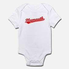 Retro Plymouth (Red) Infant Bodysuit