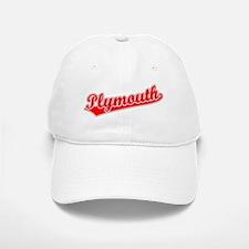 Retro Plymouth (Red) Baseball Baseball Cap