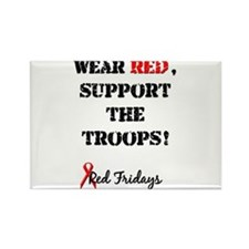Wear Red, Support the Troops! Rectangle Magnet