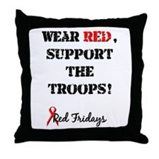 Wear Red, Support the Troops! Throw Pillow