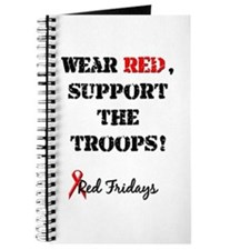 Wear Red, Support the Troops! Journal