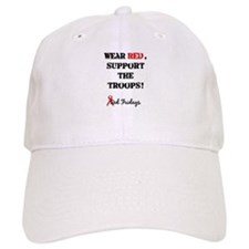 Wear Red, Support the Troops! Baseball Cap
