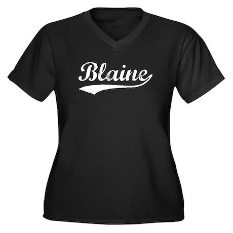 Vintage Blaine (Silver) Women's Plus Size V-Neck D