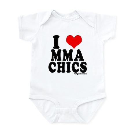 I LOVE MMA CHICS Infant Bodysuit