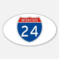 Interstate 24, USA Oval Decal