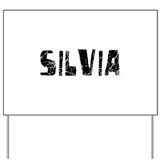 Silvia Faded (Black) Yard Sign