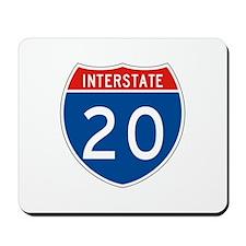 Interstate 20, USA Mousepad