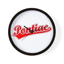 Retro Pontiac (Red) Wall Clock