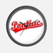 Retro Pontiac (Red) Wall Clock