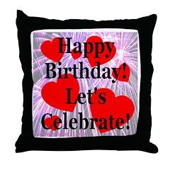 Happy Birthday! Let's Celebra Throw Pillow