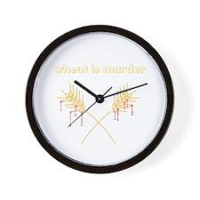 Wheat Is Murder Wall Clock