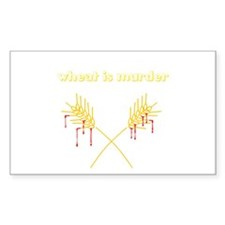 Wheat Is Murder Rectangle Decal