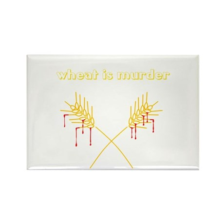 Wheat Is Murder Rectangle Magnet