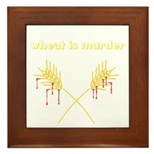 Wheat Is Murder Framed Tile