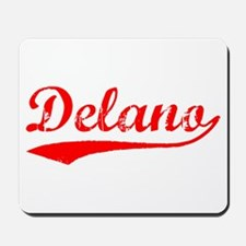 Vintage Delano (Red) Mousepad