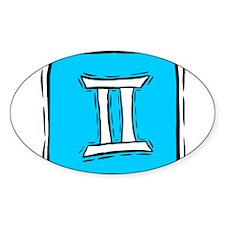 GEMINI (9) Oval Bumper Stickers