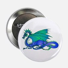 "Bummed and Blue Dragon 2.25"" Button"