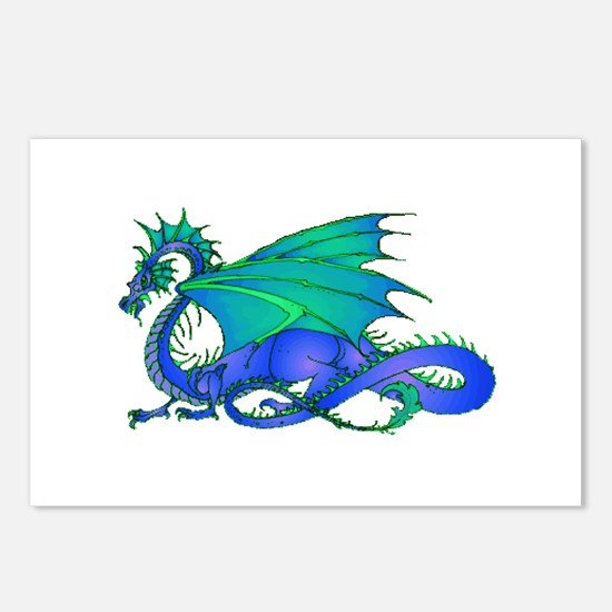 Bummed and Blue Dragon Postcards (Package of 8)
