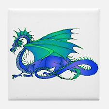 Bummed and Blue Dragon Tile Coaster