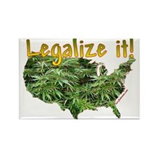 Legalize Ganja Marijuana Rectangle Magnet