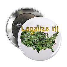 """Legalize Ganja Marijuana 2.25"""" Button"""