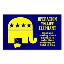 Operation Yellow Elephant Rectangle Decal