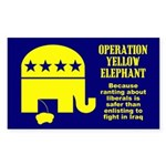 Operation Yellow Elephant Rectangle Sticker