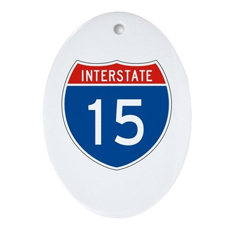 Interstate 15, USA Oval Ornament