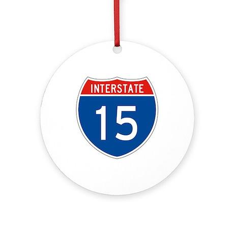 Interstate 15, USA Ornament (Round)