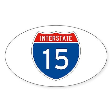 Interstate 15, USA Oval Sticker