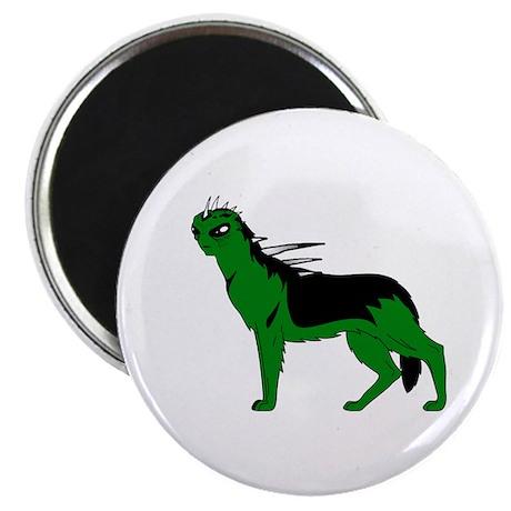 """Green Dog-like Chupacabra 2.25"""" Magnet (100 pack)"""