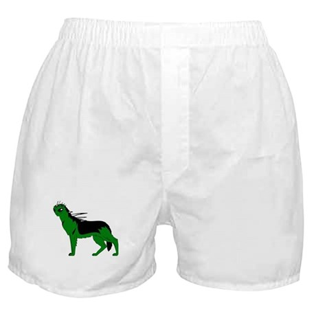 Green Dog-like Chupacabra Boxer Shorts