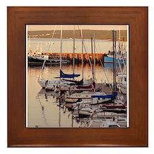 Cute Dock Framed Tile