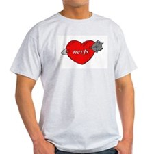Love nerfs Ash Grey T-Shirt