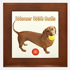 Wiener with Balls Framed Tile
