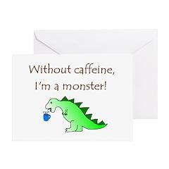 CAFFEINE MONSTER Greeting Card