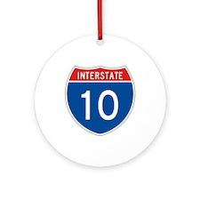 Interstate 10, USA Ornament (Round)