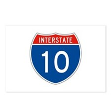 Interstate 10, USA Postcards (Package of 8)